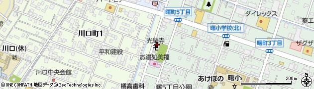 光榮寺周辺の地図