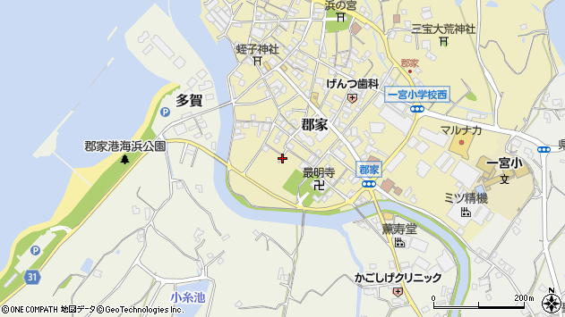 〒656-1511 兵庫県淡路市郡家の地図