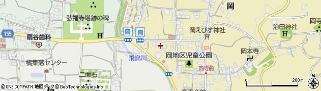 奈良県明日香村(高市郡)周辺の地図