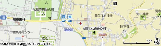 奈良県高市郡明日香村周辺の地図