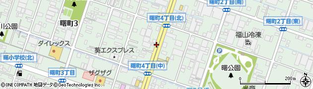広島県福山市曙町周辺の地図