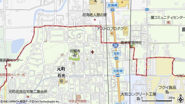 〒639-2301 奈良県御所市元町の地図