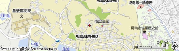 岡山県倉敷市児島味野城周辺の地図