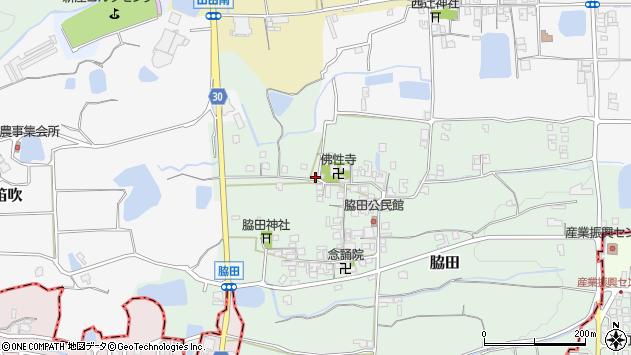 〒639-2124 奈良県葛城市脇田の地図