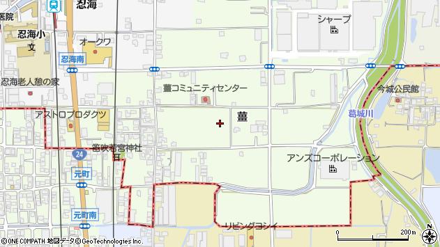 〒639-2122 奈良県葛城市薑の地図