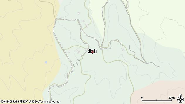 〒633-0034 奈良県桜井市北山の地図