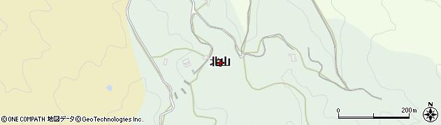 奈良県桜井市北山周辺の地図
