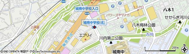 城南中北周辺の地図