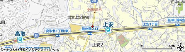 県営住宅入口周辺の地図