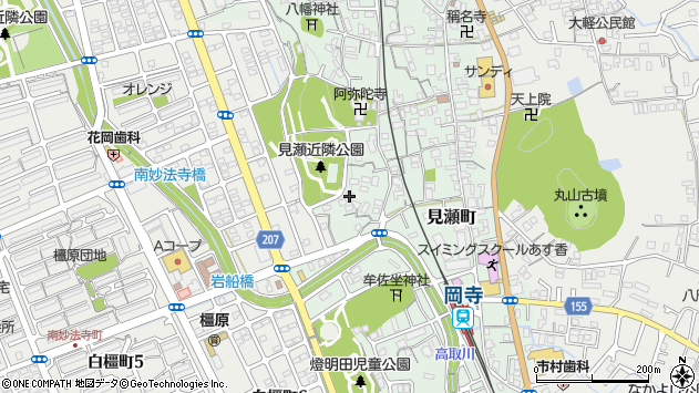 〒634-0064 奈良県橿原市見瀬町の地図