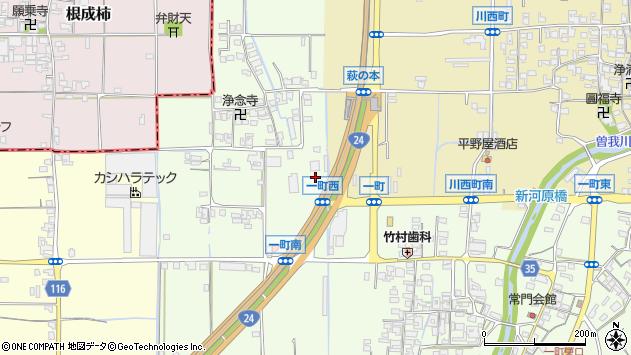 〒634-0824 奈良県橿原市一町の地図