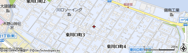 広島県福山市東川口町周辺の地図