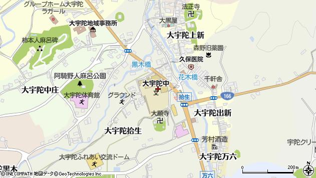 〒633-2164 奈良県宇陀市大宇陀拾生の地図