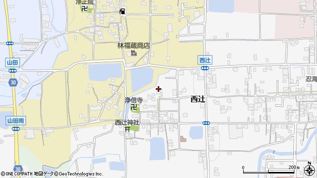 〒639-2125 奈良県葛城市西辻の地図