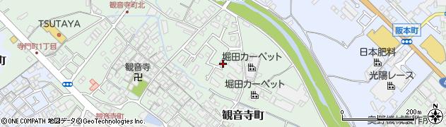 大阪府和泉市観音寺町周辺の地図