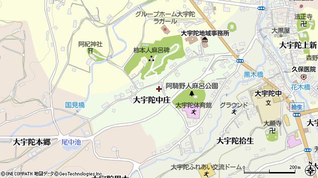 〒633-2165 奈良県宇陀市大宇陀中庄の地図