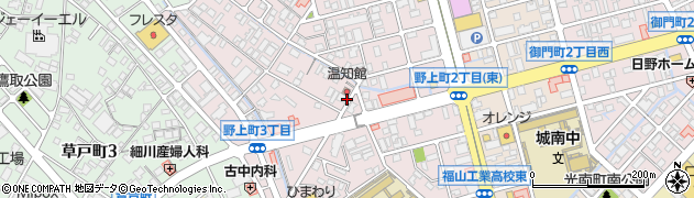 広島県福山市野上町周辺の地図