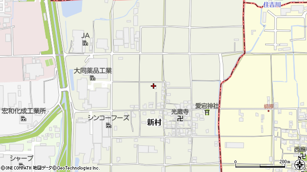 〒639-2121 奈良県葛城市新村の地図