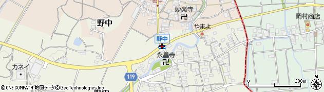 野中周辺の地図
