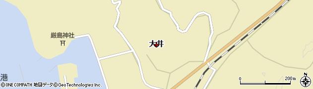 山口県萩市大井周辺の地図