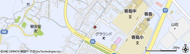 岡山県浅口市寄島町周辺の地図
