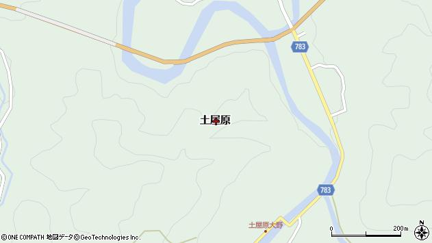 〒633-1303 奈良県宇陀郡御杖村土屋原の地図