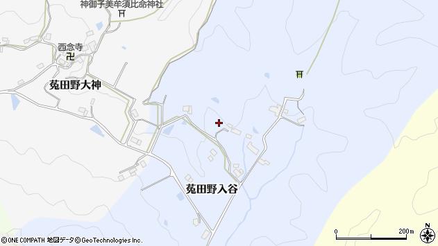〒633-2211 奈良県宇陀市菟田野入谷の地図