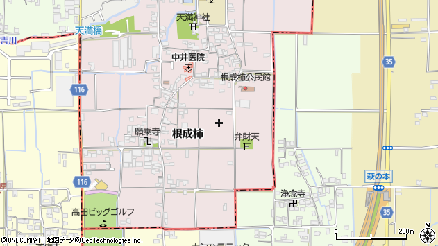 〒635-0051 奈良県大和高田市根成柿の地図