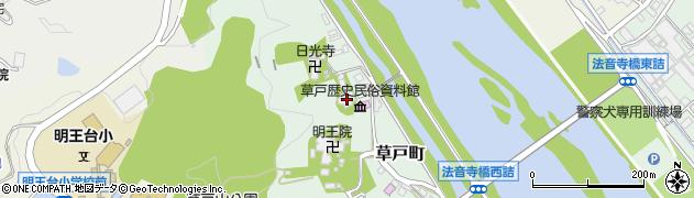 草戸稲荷神社周辺の地図