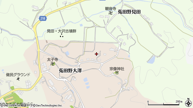 〒633-2204 奈良県宇陀市菟田野大澤の地図