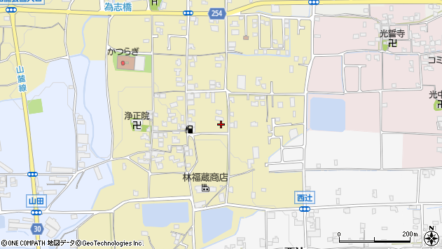 〒639-2131 奈良県葛城市林堂の地図