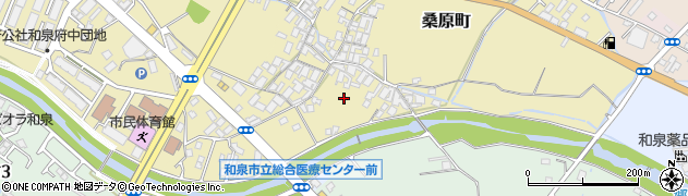 大阪府和泉市桑原町周辺の地図