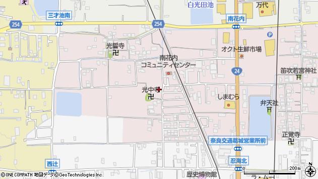 〒639-2126 奈良県葛城市南花内の地図
