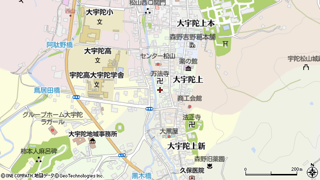 〒633-2176 奈良県宇陀市大宇陀小出口の地図