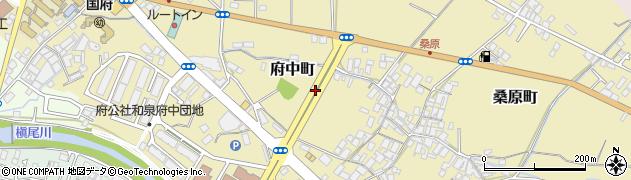 大阪府和泉市府中町周辺の地図