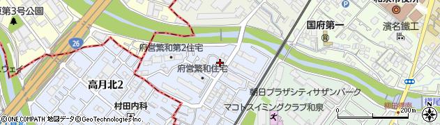 大阪府和泉市繁和町周辺の地図