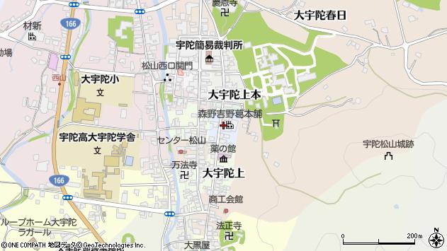 〒633-2173 奈良県宇陀市大宇陀上中の地図
