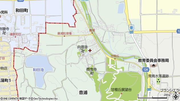 〒634-0107 奈良県高市郡明日香村豊浦の地図