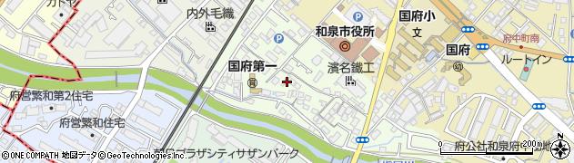 大阪府和泉市井ノ口町周辺の地図
