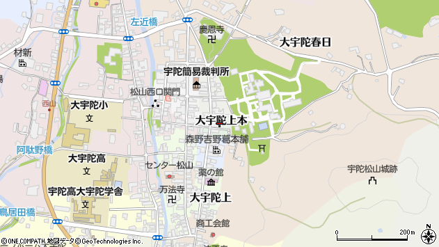 〒633-2172 奈良県宇陀市大宇陀上本の地図
