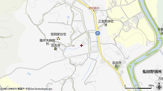 〒633-2123 奈良県宇陀市大宇陀藤井の地図