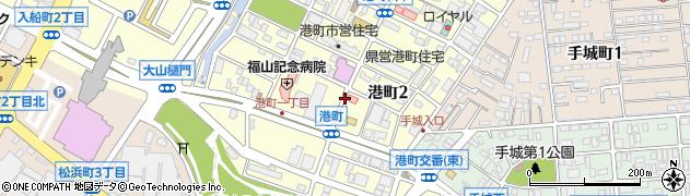 広島県福山市港町周辺の地図