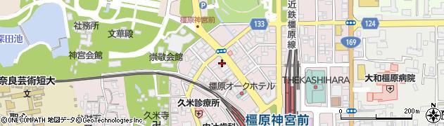 奈良県橿原市久米町周辺の地図