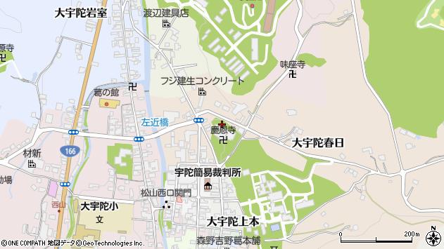 〒633-2114 奈良県宇陀市大宇陀春日の地図