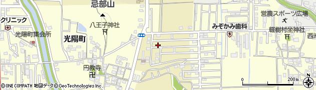 奈良県橿原市川西町周辺の地図