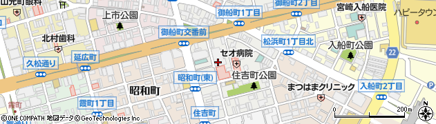 広島県福山市住吉町周辺の地図