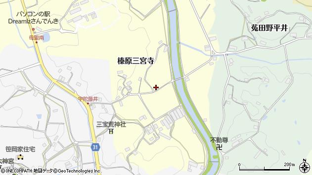 〒633-0227 奈良県宇陀市榛原三宮寺の地図