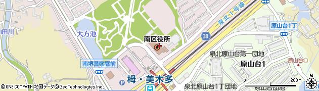 大阪府堺市南区周辺の地図