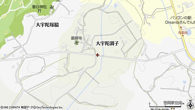 〒633-2122 奈良県宇陀市大宇陀調子の地図