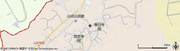 奈良県桜井市山田周辺の地図
